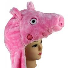 kukubird cute peppa pig cartoon long hat scarf ladies kids winter
