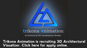 visualizer online requirement of 3d architectural visualizer at trikona animation