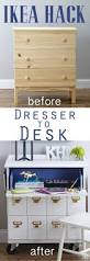 Contact Paper Desk Makeover Ikea Dresser Makeover U0026 Bhg Link Party In My Own Style