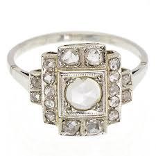 art deco vintage 1930 u0027s old rose cut diamond ring jewels uk