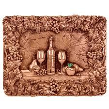 Copper Tiles For Kitchen Backsplash Design Tuscany Design Tuscany Grape Frame Backsplash Mural