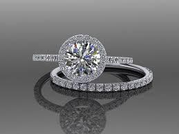 moissanite wedding sets moissanite engagement ring sets wedding ring sets