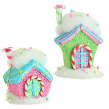 candy ornaments raz candy sprinkles 7 inch candy house christmas ornaments