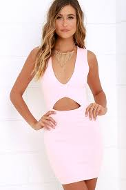 light pink bodycon dress light pink dress bodycon dress sleeveless dress 48 00