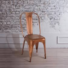 yosemite home decor aged copper metal side chair yfur sba5162 c