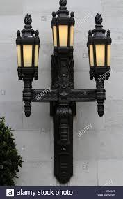external lights on freemason stock photo royalty free