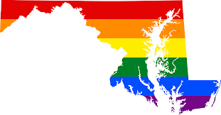 Map Of Maryland State by File Lgbt Flag Map Of Maryland Svg Wikimedia Commons