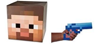 minecraft steve costume minecraft steve with a gun cardboard mask with blue diamond