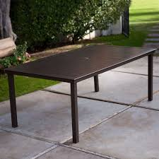 42 Patio Table Rectangular 74 X 42 Inch Patio Dining Table In Mocha Brown With