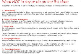 what not to say or do on the date for shopdevie