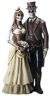 skeleton cake topper never dies steunk skeleton wedding cake topper wedding