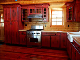 How To Paint Cabinets To Look Distressed Kitchen Cabinet White Kitchen Cabinets Black Granite Distressed
