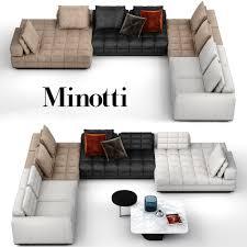 sofa minotti sofa clan modular system by minotti 3d model max obj