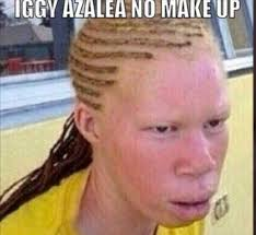 Pissed Face Meme - iggy azalea pissed at snoop dogg over no makeup instagram pic