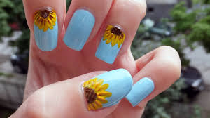 sunflower nail art tutorial youtube