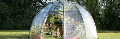 the sunbubble greenhouse is a mini eden for your backyard