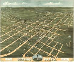 Map Of Warren County Nj Birdseye View Of Bowling Green Kentucky 1871