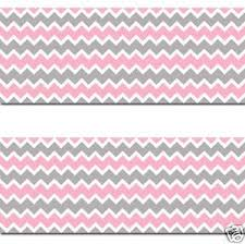 pink grey gray chevron wallpaper border wall decals baby