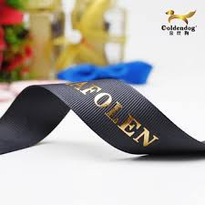 printed grosgrain ribbon luxury gold custom embossed logo printed grosgrain ribbon buy