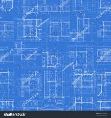 architectural blueprints set technical drawings on stock vector
