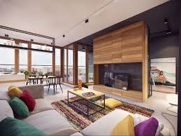 interieur maison bois contemporaine appartement moderne au design minimaliste et chaleureux à varsovie