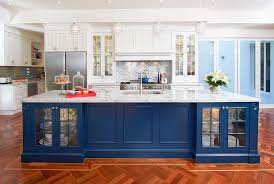 blue kitchen island 25 colorful kitchen island ideas to enliven your home