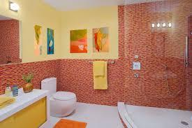 bathroom 2017 best kids bathroom with mosaic red ceramic wall