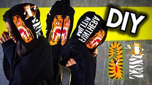 diy bape tiger full zip hoodie super cheap durable and easy