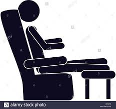 monochrome silhouette with man in comfortable chair vector stock