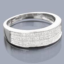 Princess Cut Wedding Ring by Princess Cut Diamond Wedding Band 1 27ct 14k Gold