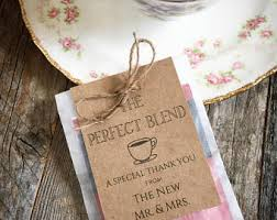 tea bag favors personalized tea bag etsy