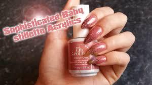 sophisticated baby stiletto acrylic nails nail art gel polish