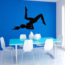 compare prices on wall murals for sale online shopping buy low dctop hot sale yoga fitness girl wall sticker home decor vinyl removable exersice gym sport player