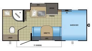 Rear Kitchen Rv Floor Plans 2017 Jayco Hummingbird 17rb Model