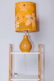 Yellow Table Lamp Working Vintage 1970 U0027s Yellow Table Lamp With Original Retro 70 U0027s