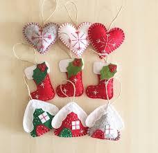 ornaments set 9 handmade felt ornaments new year