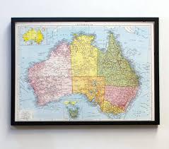 aussie map vintage aussie map pinboards framed travel memories world map