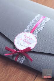 mariage gris que faire faire part mariage gris fuchsia dentelle pockart 2 mains et