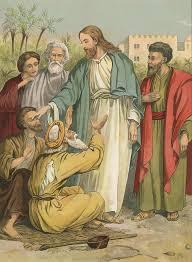 Jesus Healed The Blind Man Jesus Healing The Sick Paintings Fine Art America