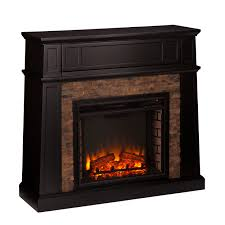 sei regent faux stone electric media fireplace black bj u0027s