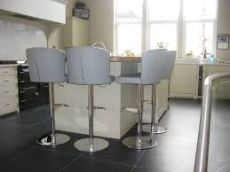 grey kitchen bar stools doris s stools in winter grey leather