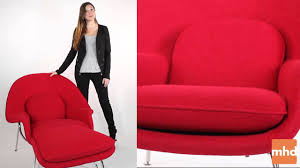 manhattan home design review of saarinen womb chair replica youtube