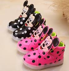 cute mickey mouse baby toddler kids led lights shoes unisex