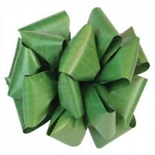 leaf ribbon leaf ribbon emerald green
