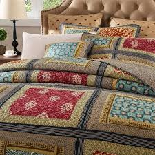 Navy Quilted Coverlet Dada Bedding Reversible Gallery Of Roses Cotton Colorful Patchwork