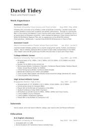 Gymnastics Coach Resume Track Coach Cover Letter