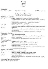 Resume Template Teenager Resume Samples For High Students With No Experience Resume