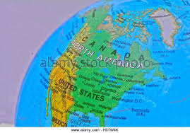 us map globe globe showing map united canada stock photos globe showing map