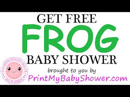 frog baby shower frog baby shower decorations invitations