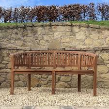 top curved banana garden bench 160cm